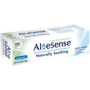 AloeSense Naturally Soothing Fluoride Toothpaste, Fresh Mint
