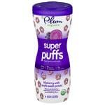 Plum Organics Baby Super Puffs Fruit & Veggie Grain Puffs, Purples - Blueberry & Purple Sweet Potato- 1.5 oz