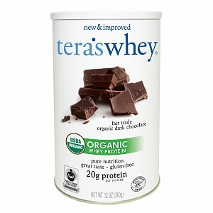 tera's whey Organic Whey Protein, Fair Trade Dark Chocolate