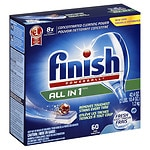 Finish Powerball Tabs Dishwasher Detergent, Fresh- 60 ea