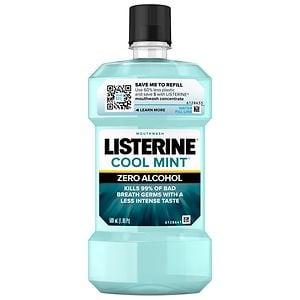 LISTERINE Zero Antiseptic Mouthwash, Clean Mint