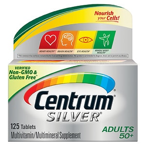 Centrum Silver Adults 50+ Multivitamin, Tablets- 125 ea