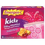 Emergen-C Kidz Vitamin C 250mg, Fruit Punch- 30 ea
