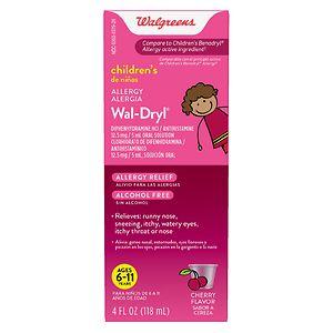 Walgreens Wal-Dryl Children's Allergy Relief, Liquid- 4 fl oz