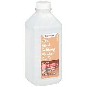 Walgreens Ethyl Rubbing Alcohol 70% First Aid Antiseptic- 16 fl oz