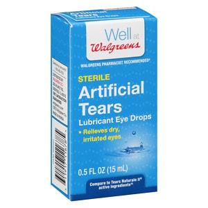 Walgreens Artificial Tears Lubricant Eye Drops- .5 oz