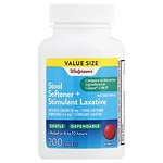 Walgreens Stool Softener Plus Laxative Tablets- 200 ea