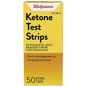Walgreens Ketone Test Strips- 50 ea