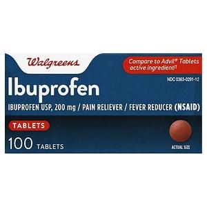 Walgreens Ibuprofen 200 mg 100 Tablets- 100 ea
