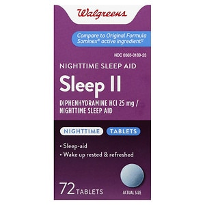 Walgreens Sleep II Nighttime Sleep-Aid Tablets- 72 ea