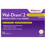 Walgreens Wal-Dram II Antiemetic Travel Sickness Tablets- 16 ea