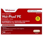 Walgreens Wal-Phed PE Maximum Strength Sinus Headache Caplets- 24 ea