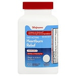 Walgreens Extra Strength Heartburn Antacid Chewable Tablets- 100 ea