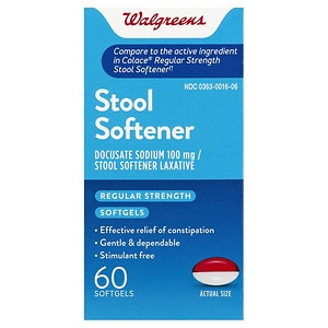 Walgreens easy lax stool softener laxative softgels for Fish oil constipation