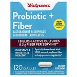 Walgreens Daily Fiber & Probiotic Dietary Supplement Capsules