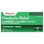Walgreens Extra Strength Headache Relief Quick Gels Gelcaps- 80 ea