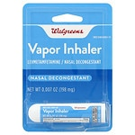 Walgreens Nasal Decongestant Vapor Inhaler- .01 oz