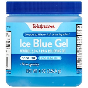 Walgreens Pain Relieving Ice Blue Gel