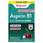 Walgreens Low Dose Aspirin 81 mg Chewable Tablets 3 Pack,