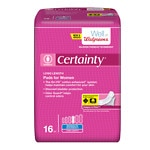 Walgreens Certainty Pads for Women Long, Moderate Absorbency- 16 ea