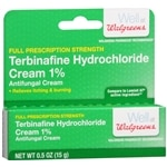 Walgreens Terbinafine Hydrochloride Cream 1% Antifungal Cream- .53 oz