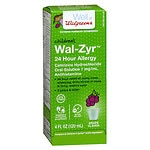 Walgreens Wal-Zyr 24 Hour Allergy Oral Solution- 4 oz