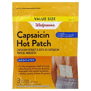 Walgreens Capsaicin Hot Patches Topical Analgesic, 3 ea