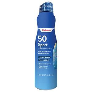 Walgreens Sport Sunscreen Continuous Spray, 6 oz