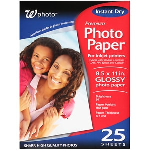 Walgreens Premium Photo Paper Glossy 8.5 x11in, 25 ea