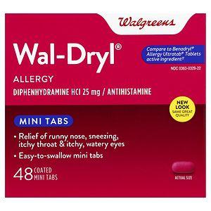 Walgreens Wal-Dryl Allergy Relief, Coated Mini Tabs, 48 ea