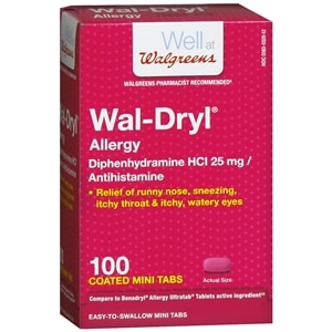 Walgreens Wal-Dryl Allergy Relief, Coated Mini Tabs, 100 ea
