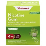 Walgreens Nicotine Gum, 4 mg, Mint