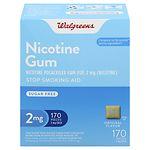 Walgreens Nicotine Gum 2 mg, Original- 170 ea