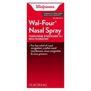 Walgreens Wal-Four Nasal Decongestant Spray- 1 oz