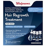 Walgreens Minoxidil Hair Regrowth Treatment For Men Extra Strength, 3 pk- 2 oz