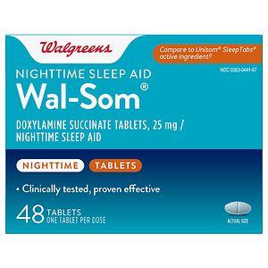 Walgreens Wal-Som Nighttime Sleep Aid Tablets
