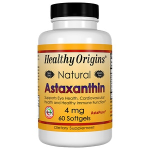 Healthy Origins Astaxanthin 4mg, Softgels- 60 ea