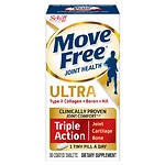 Schiff Move Free Ultra Triple Action with UCII, Coated Tablets- 30 ea