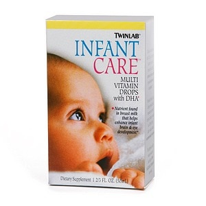 Twinlab Infant Care Multivitamin Drops with DHA- 1.66 fl oz