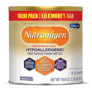 Enfamil Nutramigen Lipil for Colic Hypo-Allergenic Powder with Iron, 0-12 months- 19.8 oz