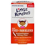 Little Remedies Infant Fever/Pain Reliever Acetaminophen, Dye-Free, Berry- 2 fl oz