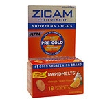 Zicam Ultra Cold Remedy Bi-Layer RapidMelts Quick Dissolve Tablets, Orange Cream Flavor
