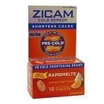 Zicam Ultra Cold Remedy Bi-Layer RapidMelts Quick Dissolve Tablets, Orange Cream Flavor- 18 ea