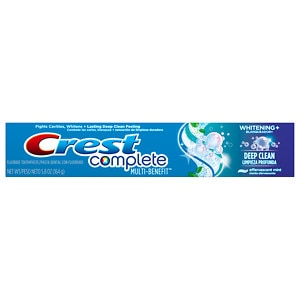 Crest Complete Multi-Benefit Toothpaste, Whitening Plus Deep Clean, Effervescent Mint- 5.8 oz