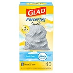 Glad Tall Kitchen Drawstring Odor Shield with Febreze Freshness, White, Fresh Clean