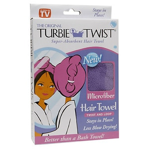 Turbie Twist Microfiber Super Absorbent Hair Towel- 1 ea