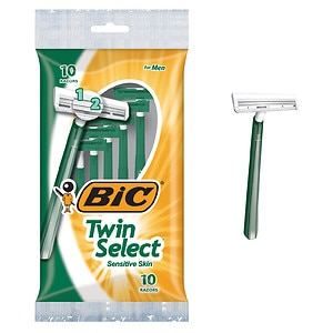 BIC Twin Select Sensitive for Men, Disposable Shaver