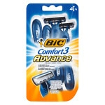 BIC Comfort 3 Advance for Men, Disposable Shaver- 4 ea
