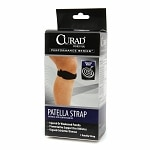 Curad Performance Series Patella Strap, Universal with Compression Pad, Black, Universal- 1 ea