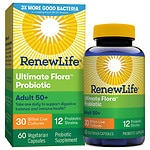 ReNew Life Ultimate Flora Senior Formula Probiotic, 30 Billion, Veggie Capsules- 60 ea
